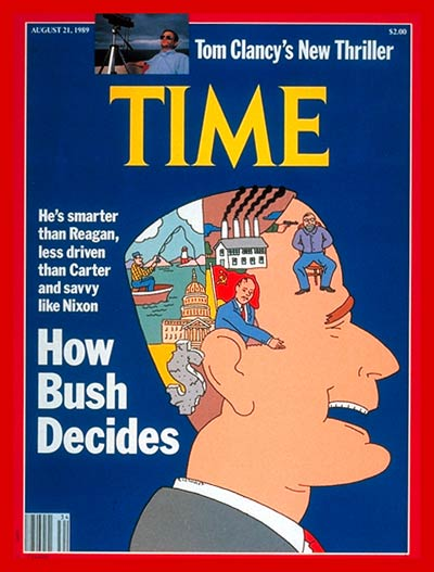 Bush-DecidesTimeCover socionomics